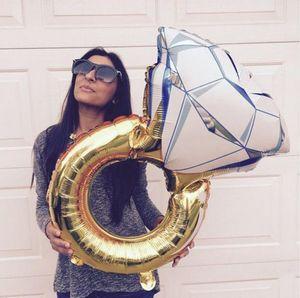 43 дюйма большой воздушный шар бриллиантовое кольцо Фольга Воздушные шары Надувные Свадебные украшения Гелий Воздушный шар партии Событие принадлежности