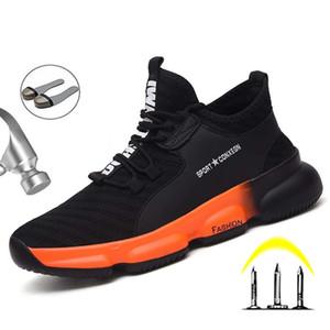 Новая защитная обувь Сапоги для мужчин стали Toe обувь Anti-Smashing Строительство Безопасности труда Загрузочного дышащего спецобуви Мужчины Обувь