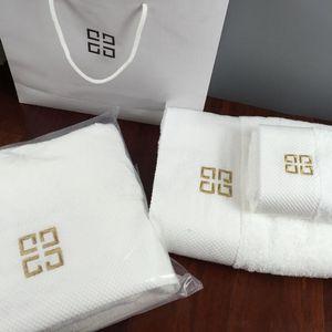 NEW Лучшие продажи махровые полотенца дизайнер вышитые бренда квадратный полотенце пляжное полотенце и полотенце 3 шт хлопковая ткань мягкая 1 комплект