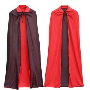 1.4m Halloween Cloak Cape Witch Assistente Cloaks Capes Preto vampiro Red Cloak Cape Halloween Máscara vestido de festa suprimentos DWE803