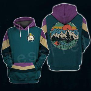 Tessffel Alien Tierbären Jagd Ich Leute Liebe Camping Lustige NewFashion 3DPrint Unisex Zip / Hoodies / Sweatshirts / Jacke A10 hate