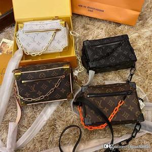 Diseñador de Louis Vuitton bolsos de lujo monederos mujeres de hombro inclinado de cadena cruzado clásico del bolso a estrenar forme la personalidad bolsas de tamaño 20cm