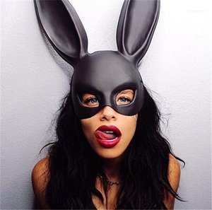 Halloween Costume Accessories Designer Mask Women Cosplay Mask Solid Color Big Ear Masquerade Mask