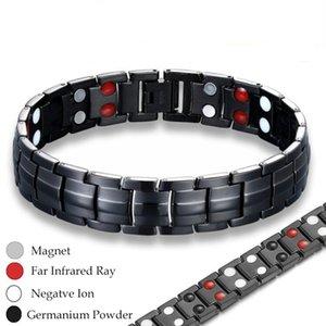 Magnetic Health энергии браслет для Black Артрит Bio Magnet Therapy нержавеющей стали Браслеты Браслеты Мужские ювелирные изделия