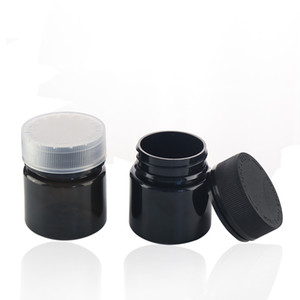 60g 120g PET empty bottle can jars with child safety lid color can be customized for thick oil wax Herb Storage