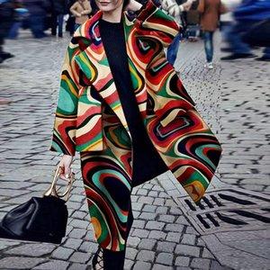 Moda Kadın Winter kazak sıcak tasarımcı yün ceket tasarım X-uzun yün karışımı Patchwork Dış Giyim WINDBREAKER Teddy Fleece rahat ceket
