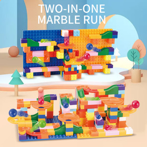 Slide blocks Building blocks DIY toys Let the baby explore the wonderful and varied trajectory Make the child know more