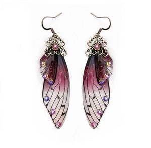 gelin küpe kadın kişilik moda hayvan küpe simülasyon ağustosböceği kanatları küpe WY1551 Mizaç uzun kelebek kanatları