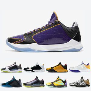 المدربين الأحذية الفوضى II 5 بروتو معدني الذهب للرجال لكرة السلة الكبيرة المرحلة بروس لي LA 5S الثلاثي الرجال السود الرياضية أحذية رياضية 7-12