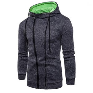 Loose Casual Long Sleeve Hooded Sweater Designer Spring Male Pullover Regular Length Sweatshirts Men Zipper Solid Color Hoodies Fashion