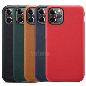 Tenha iPhone LOGO Original Estilo PU Oficial de couro à prova de choque Hard Cover capa para a Apple 12 Pro Max 11 XS XR X 8 7 6 6S Além disso SE 2020 5 5S