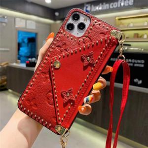 Для iPhone 11Pro Max X XR Xsmax 8Plus Phone Case Top Quality тисненая кожа держатель карты моды телефон Обложка для Huawei р40 Mate30