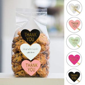 10sheets شكرا اليدوية القلب ملصق ملون كرافت ورقة ختم تسمية عرس عيد ميلاد الحزب هدايا صندوق ختم ملصقات