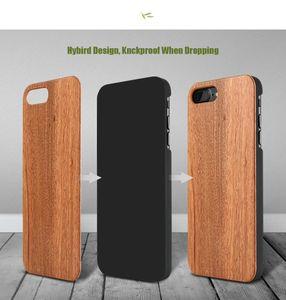 Cgjxsgenuine madeira capa para Iphone 7 Plus multi -Grain Original Natural Wood dura do PC Voltar Liso Touch para o iPhone 7