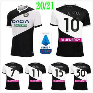 2020 قميص 2021 اودينيزي اودينيزي لكرة القدم الفانيلة اوكاكا اللازانيا DE PAUL CRISTO والاسي NESTOROVSKI مخصص الرئيسية الأسود 20 21 لكرة القدم