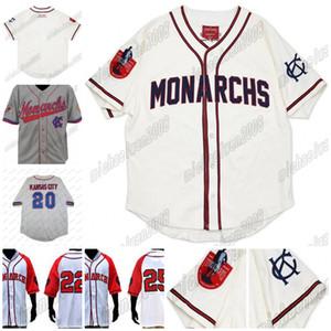 Big Boy Kansas City Monarchs Nlbm Negro Liga Beisebol Jersey Herança Centenário Mens Basebol Jersey 100% Costura Branco Cinza Cutom Vermelho