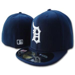 Мужские тигры встроена шляпа плоский Бреет Embroiered B Письма Teamlogo поклонников высшего качества бейсбол Hatsred Детройтских на поле полностью закрытый колпачок