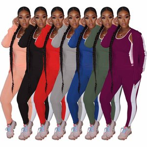 Women Sets autumn Tracksuits Hooded Tops+Pants Suit Two Piece Set Night Club Party Outfits Sportswear 2 pcs Street set004
