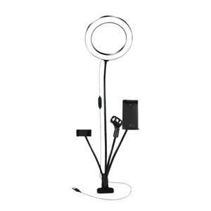 Hot 4 in 1 Vlogging Live Broadcast Smartphone Video 8 inch Selfie Ring Light Extendable Tripod Stand with Phone Holder