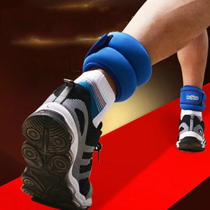 1 Pair 1KG Adjustable Leg Ankle Wrist Iron Sand Bag Weights Straps Foot Ring for Strength Training Fitness Exercise Running Gym