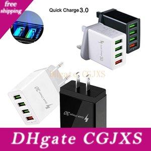 QC3 0.0 4 USB 포트 고속 충전기 5V / 2 .4a 12V / 1 .5A 노트북 전원 어댑터 태블릿 PC 노트북 컴퓨터 스마트 모바일 충전기