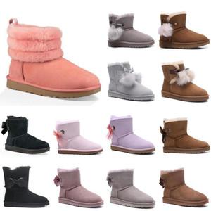 2020 새로운 호주 여성 패션 눈 부츠 ugg women men kids uggs slippers furry boots slides 겨울 부츠 미니 숙녀 미니 발목 고전 여자 트리플 해군 부츠 갈색 크기 여자 36-40 llfT #