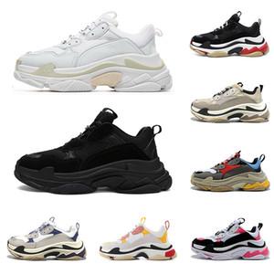 2020 triple s ثلاثية الصورة حذاء مصمم أحذية منصة الأزياء للرجال والنساء السوداء الفاخرة ولدت الأبيض الوردي الأخضر رجل حذاء عارضة المشي في الهواء الطلق