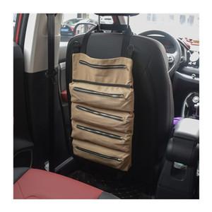 Auto Indietro Storage Bag Strumento della tela pieghevole Rotolo Bag Car Pinze Elettricista strumento Accessori Storage