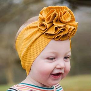 천 옥수수 꽃 아이 머리띠 단색 아기 헤어 밴드 Headwraps 아기 드레스 패션 의지와 모래 선물