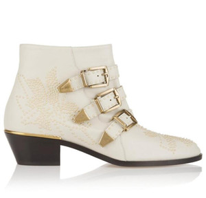 Fall Winter Susanna Studded Buckle Ankle Boots women Martin Boot Genuine Leather Suede Booties Chunky Heel Combat Boots