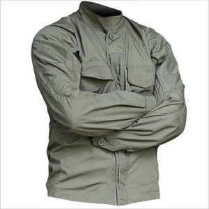 Men Hiking Fishing Shirts Tactical Long Sleeve Breathable Shirts Outdoor Multi-Pockets Camo Sports Clothes