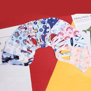 bambini della maschera di protezione maschere di protezione di seta del ghiaccio stampato maschera facciale a prova di polvere re-lavabile maschere dei cartoni animati traspiranti ea prova di opacità dei bambini di moda