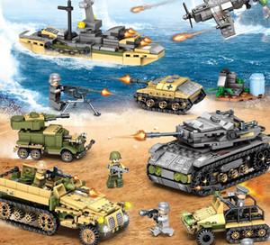1061pcs exército playmobil blocos de construção Empires de tanque militar de aço tijolos técnicos define soldados de guerra DIY educação modelo modelo brinquedos