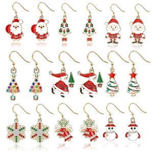 hot Christmas earrings elk women earring Christmas gift Personalized christmas Ear Hook Earrings Party Favor T2C5277