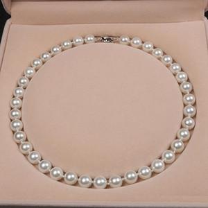 Neuer Stil High-End-Persönlichkeit des öffentlichen Lebens natürlichen Perlenkette 10 mm natürliche Shell Perlenkette 18