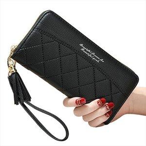 Glands Zipper Femmes Portefeuilles Porte-monnaie Porte-cartes d'identité longue femme portefeuille de bracelet Sacs Argent de poche Sac à main Lady Sacs à main