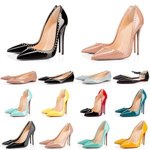 rote Unterseite 2020 neue Art und Weise Frauen hohe Absätze echtes Leder für Mädchen Dame Stilettos 8 10 12CM prom Hochzeit Luxus-Kleid Schuhe