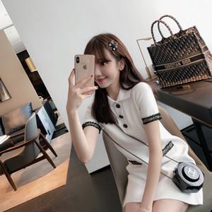 Yx1A5 4fJbx robe élégante nouvelle élégante socialite 2020 petite étudiante robe d'été Polo blanc d'été