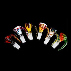 New 14mm 18mm bowl Male Glass Bowls Colored Smoking Bong Bowls Piece Smoking Accessories Unique Bowl For Tobacco Glass Water Pipes Bongs
