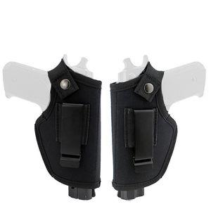 2 Materiale Tactical Left Mano Destra Pistola a mano Concetto Carry Holsters Belt Metal Clip regolabile Pistol Universal Gun Holster Bag Case
