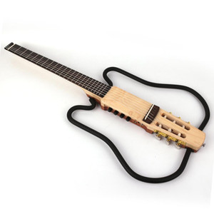 new design nylon string headless classical silent electric guitar built in effect travel portable free shipping