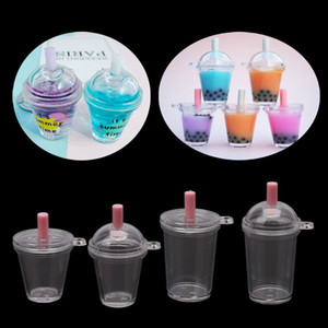 10 Ad Mini Frappuccino Cup Coffee Cup Dollhouse Minyatür Simülasyon Plastik Kek Krem Bardaklar Anahtarlık Takı Yapımı