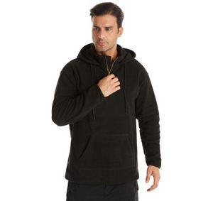 Hot Sale Latest Quality Custom Fashion Polar Fleece Mens Fur Faux Pure Color Hoodie And55