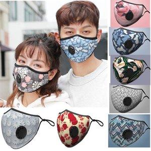 Máscara Facial com a respiração Aspirador Válvula várias cores mutável filtro Máscara Pads Dustproof pano de protecção com pacote de varejo DHC804