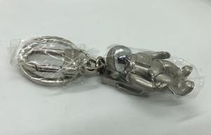 Design di lusso di Keychain del telefono cellulare cinghie Charms pendente del sacchetto dello spazio Astronauta Car Holder Keychain di fascino del pendente chiave del regalo di compleanno