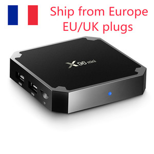 (Navire de l'Europe) X96 Mini Android 7.1 TV BOX 2GB16GB 1GB8GB Amlogic S905W Quad Core 2,4 GHz WiFi Media Player