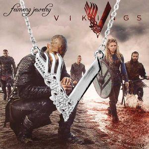 feimeng jewelry Vikings Tv Series Necklace Ragnar Lodbrok Sautoir Viking Season Pendant Necklace For Men Fashion Accessory