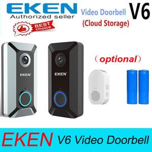 EKEN V6 واي فاي اللاسلكية الذكية الجرس 720P كاميرا فيديو سحابة التخزين الباب جرس كام بيت للماء أمن الوطن جرس رمادي / أسود الأجراس