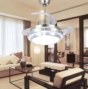Ultra ventilatori a soffitto Calma 110-240V invisibili ventilatori a soffitto Modern Fan lampada per il salone del soffitto della luce europea 48/42/36/32 pollici