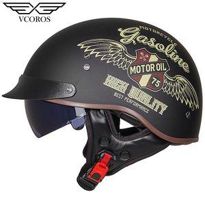 casco abierto nueva llegada casco Vcoros MT-4 de la vendimia de la motocicleta retro de la mujer del hombre de la motocicleta scooter de Moto Jet casco